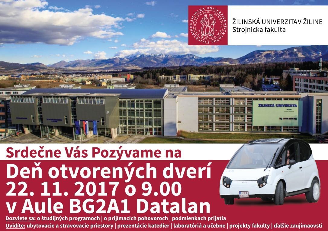 Deň otvorených dverí  –  Žilinská univerzita  v Žiline