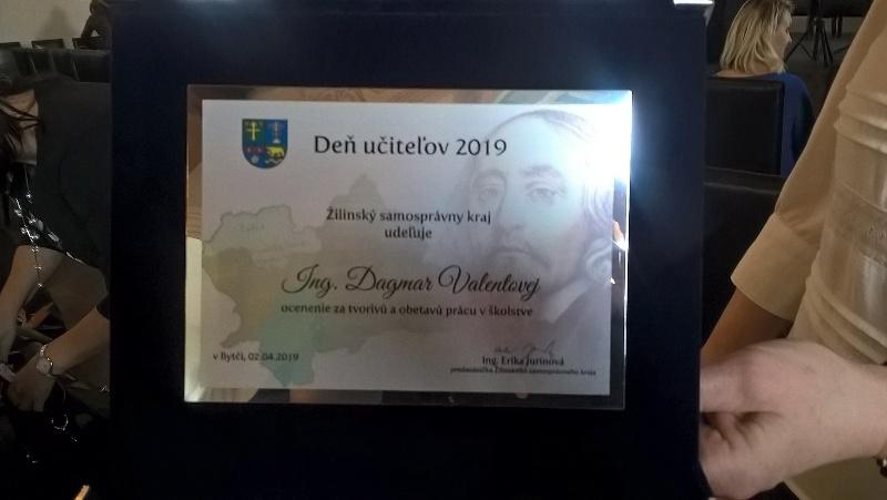Ocenenie ŽSK pri príležitosti Dňa učiteľov