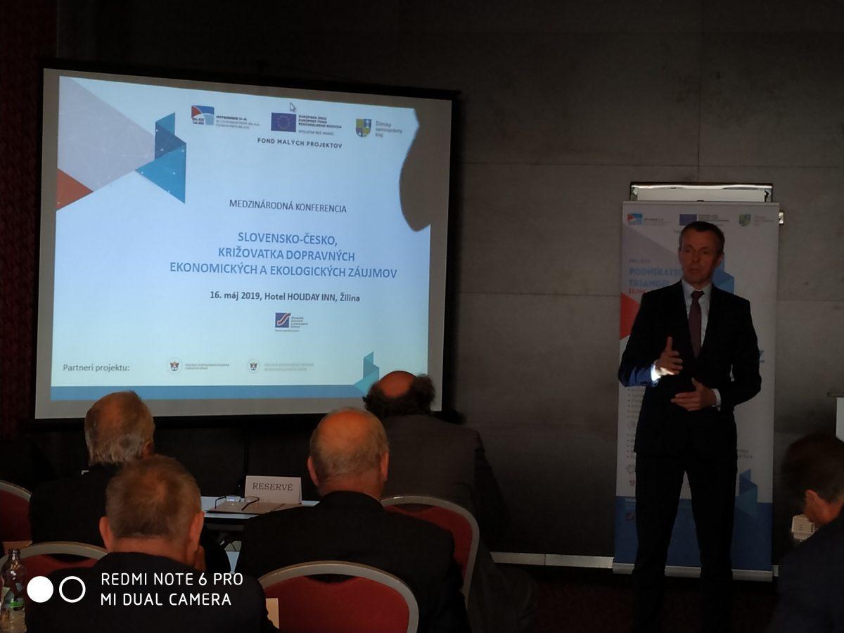 Medzinárodná konferencia SLOVENSKO – ČESKO, križovatka dopravných, ekonomických a ekologických záujmov