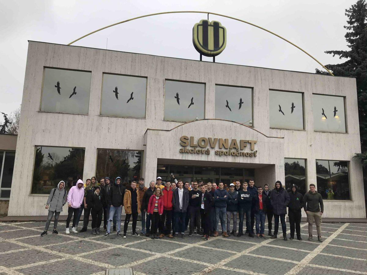 Odborná exkurzia v spoločnosti Slovnaft, a.s., Bratislava 2019