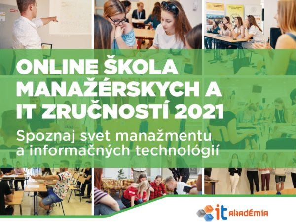 ONLINE škola manažérskych a IT zručností – registrácia pre stredoškolákov spustená